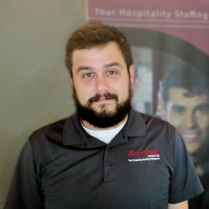 Griffin Long, Manager, food and beverage services and staffing