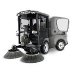 Ride-on electric floor sweeper and scrubber