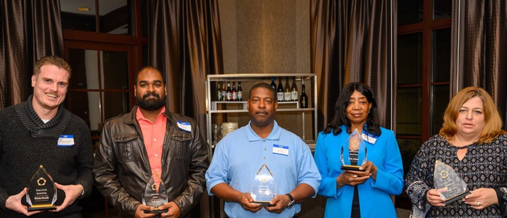 Group of the five key contributor award members.