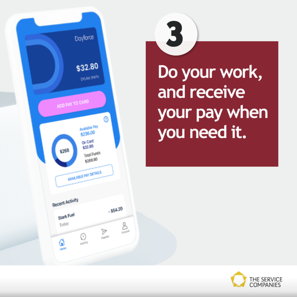 Dayforce Wallet - do you work, and receive your pay when you need it