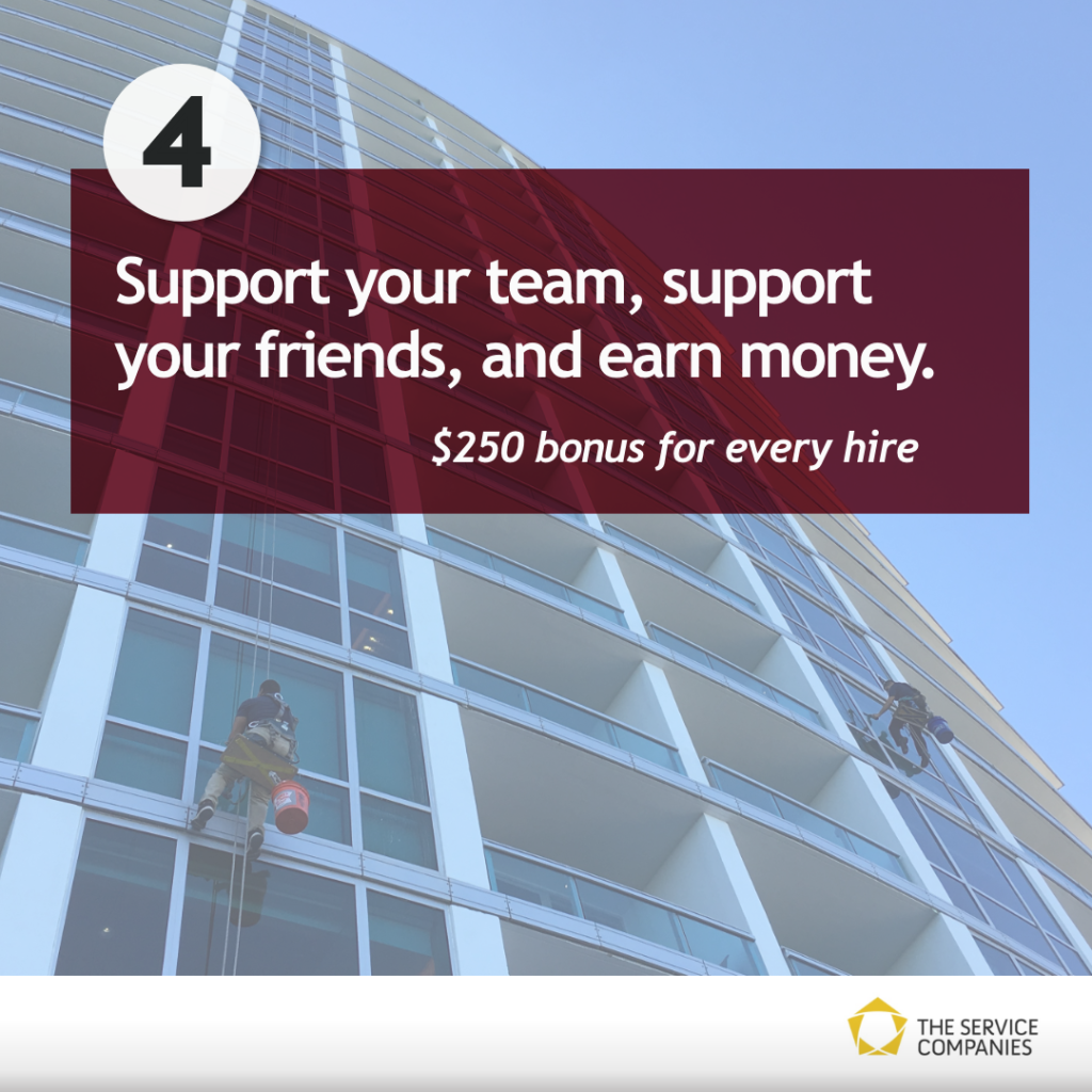 Support your tram, support your friends, and earn money   $250 bonus for every hire