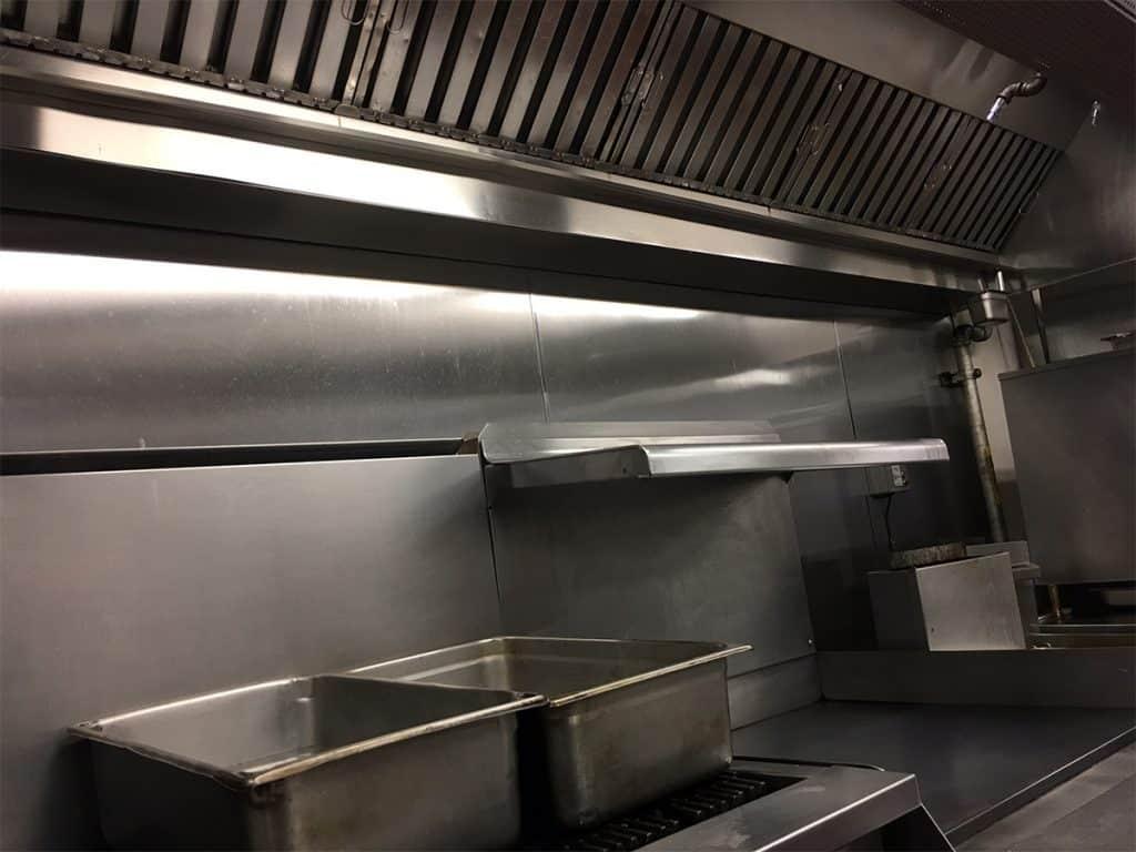 clean restaurant kitchen