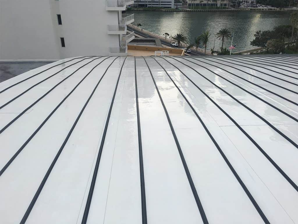 Roof after being pressure cleaned