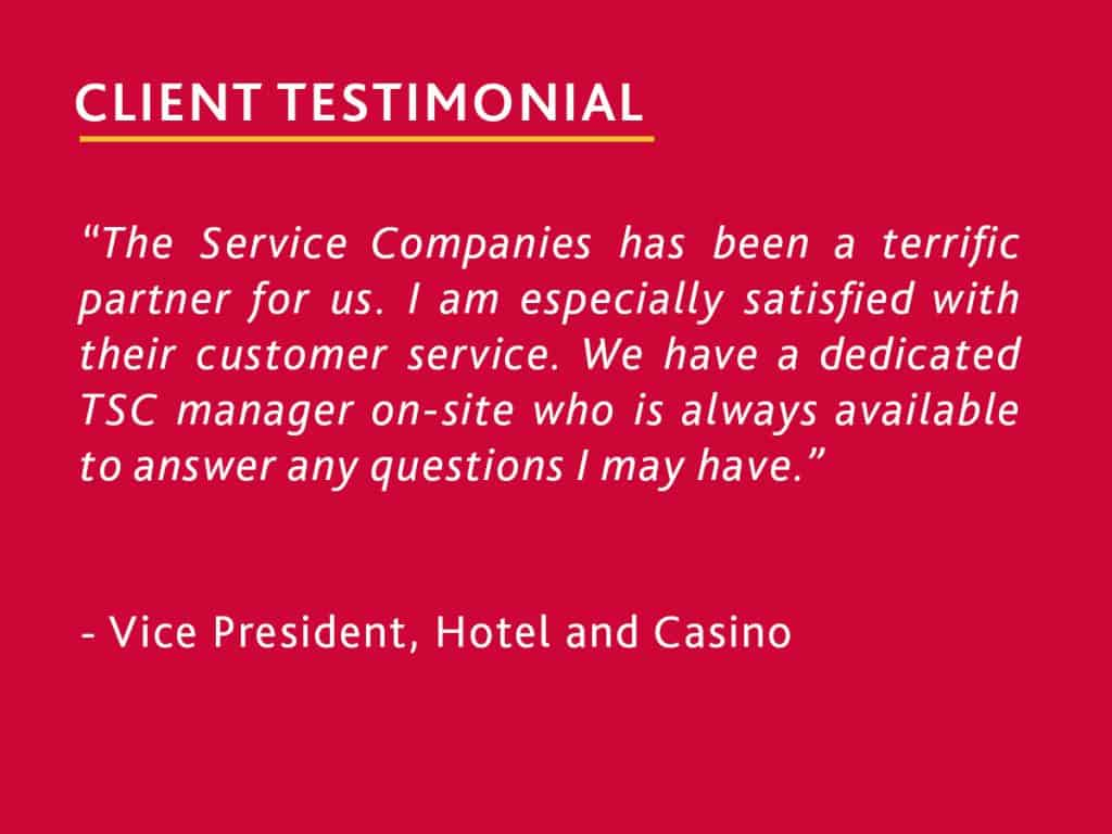 testimonial from a general manager of an upscale hotel