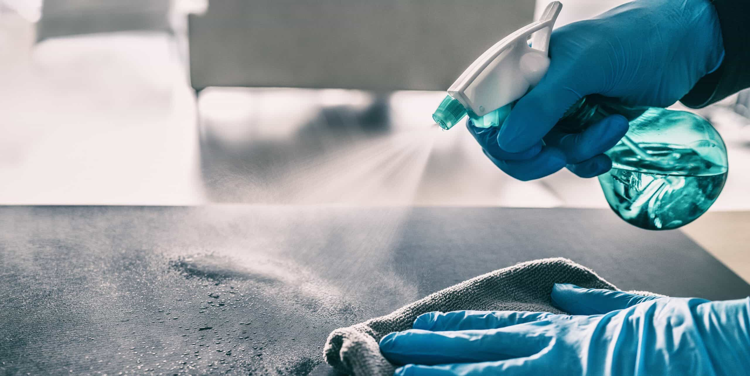 Sanitizing protocol with chemical spray